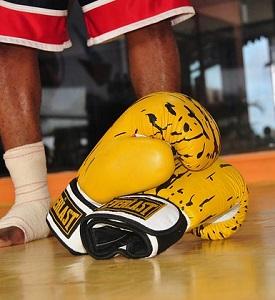 Gula boxningshandskar från Everlast